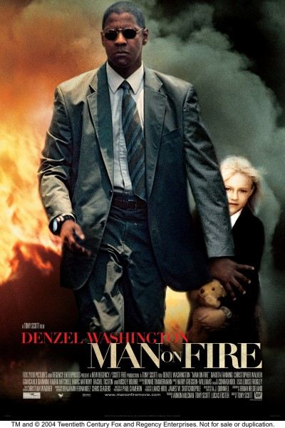 Man on Fire movie font