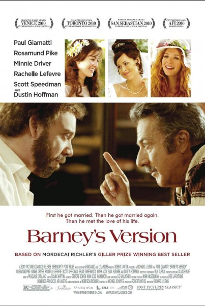 Barney's Version movie font