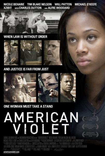 American Violet movie font
