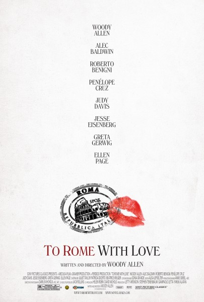 To Rome with Love movie font