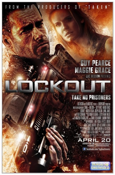Lockout movie font