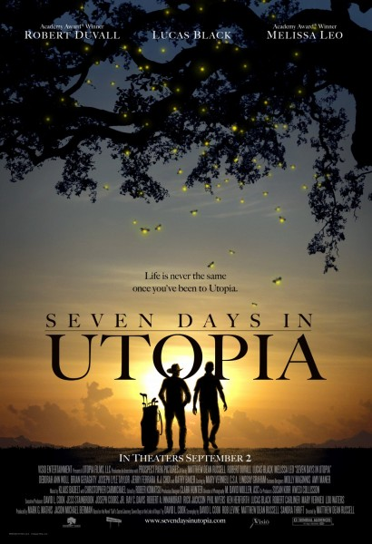 Seven Days in Utopia movie font
