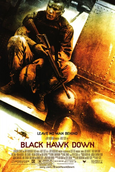 Black Hawk Down movie font