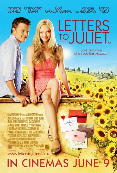 Letters to Juliet movie font
