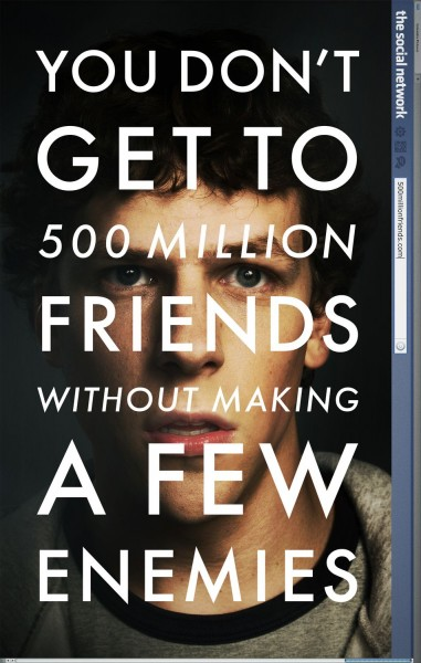 The Social Network movie font