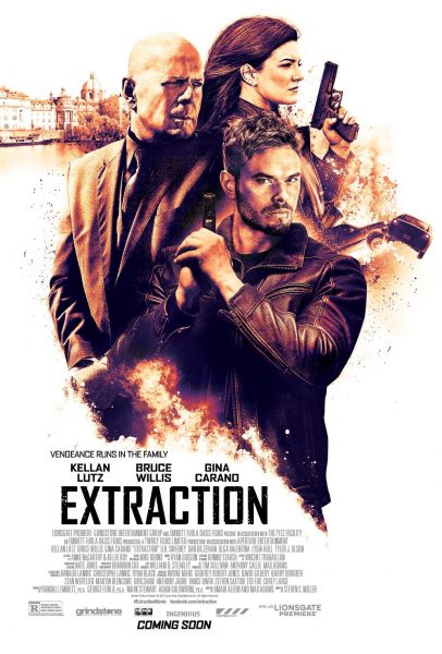 Extraction movie font