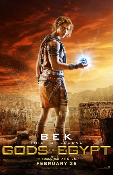 Gods of Egypt movie font