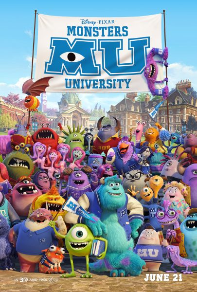Monsters University movie font